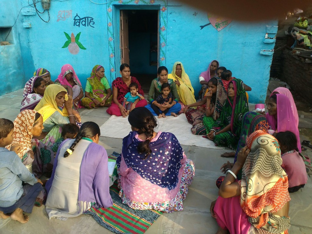 Meeting of one of the women's group's