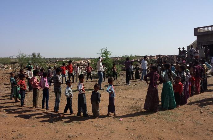 Groepsactiviteit voor kinderen georganiseerd door Manjari