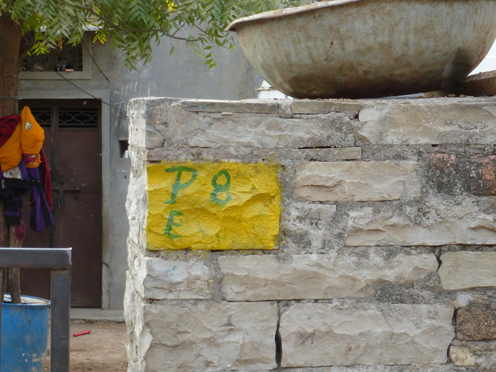 Marking each house was part of the household mapping to track down the number of children