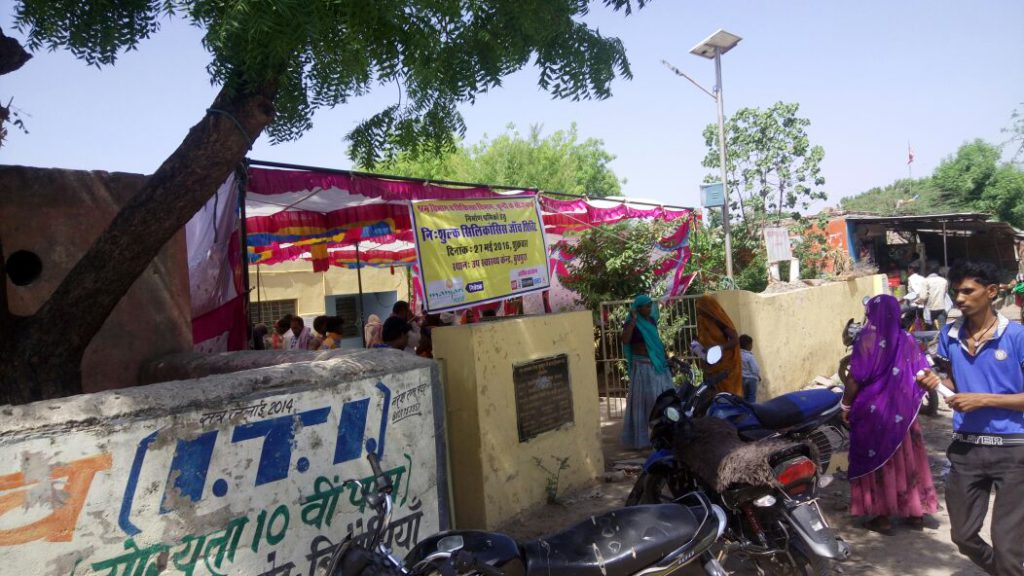 Campaigning site at Budhpura village in Manjaris' project area