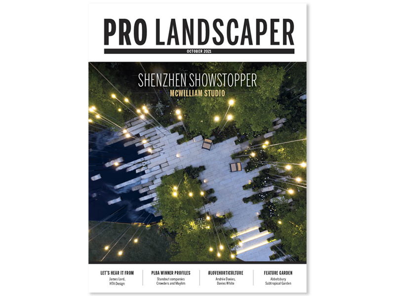 Cover of October 2021 edition of Pro Landscaper magazine.